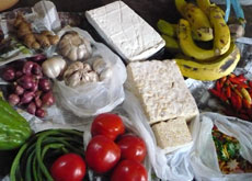 Some ingredients you might use during the cooking class in Malang - East Java