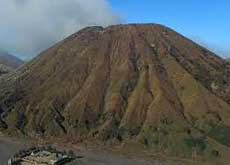Mt. Batok lies next to Mt. Bromo and is a dormant volcano