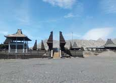 Luhur Poten temple in the black Sea of Sand near Mt. Bromo - East Java