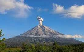 Mt. Semeru is Java's highest mountain and active volcano - East Java, Indonesia