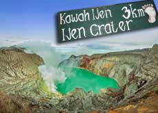Ijen crater lake - also called kawah Ijen - East Java, Indonesia