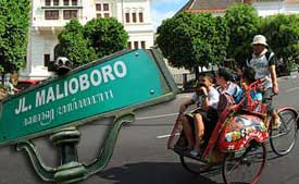 Malioborostreet is the central market of Yogyakarta