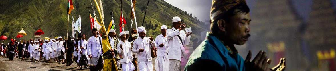 Yadnya Kasada ceremony at Mt. Bromo in East Java, Indonesia
