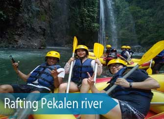 Rafting at the Pekalen river - near mount Bromo, East Java