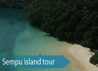 The blue lagoon Segara Anakan at Semu island - East Java