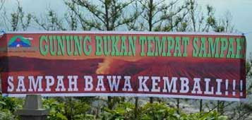 One of the actions for waste management around Mt. Bromo