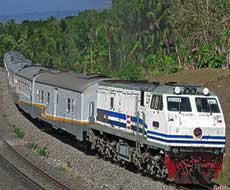 By train from Yogyakarta to Malang