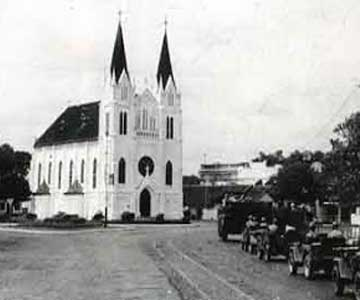The church at Kayu Tangan street in Malang - East Java