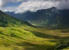 Fly to Malang - see the savanna that surrounds mount Bromo