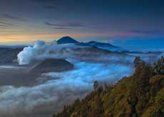 Views from mount Pananjakan are always different, East Java