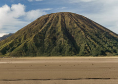 Inactive cone of Mount Batok - standing next to Mount Bromo