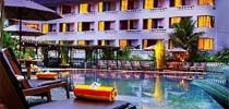 Swimming pool of the Hotel Santika in Yogyakarta - Central Java
