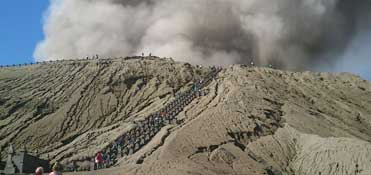 Mt. Bromo is an active volcano in East Java